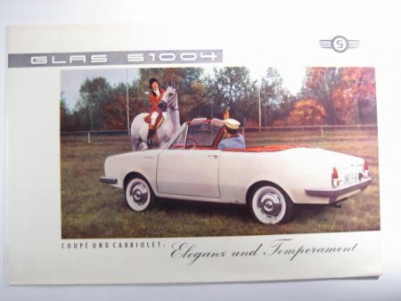 Prospekt GLAS 1004 Cabrio - 1962