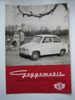 Prospekt Doppelblatt Goggomobil Limousine